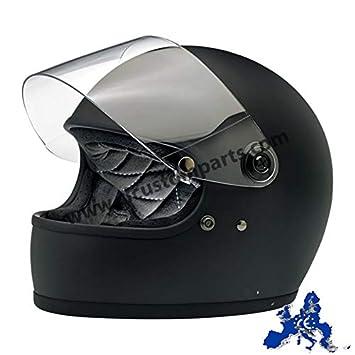 America /& DOT Europa Helmet Biker Custom Vintage Retro 70 Integralhelm Gringo Biltwell Schwarz matt Flat Black zugelassen Doppelt zugelassen ECE XL Schwarz