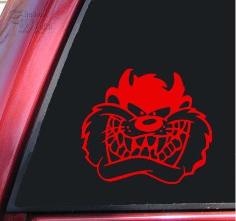(Taz Face Vinyl Decal Sticker - Red)
