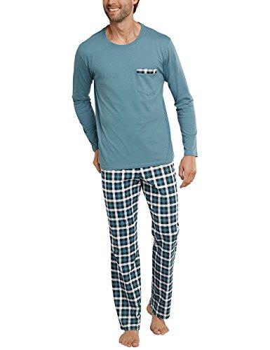 Blu Uomo Pantaloni blaugrün 817 Schiesser Pigiama Lang Anzug waTxnTCqR
