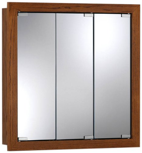 (Jensen 740621 24 by Granville Oversize Medicine Cabinet, Honey Oak, 24-Inch by 4-3/4-Inch)