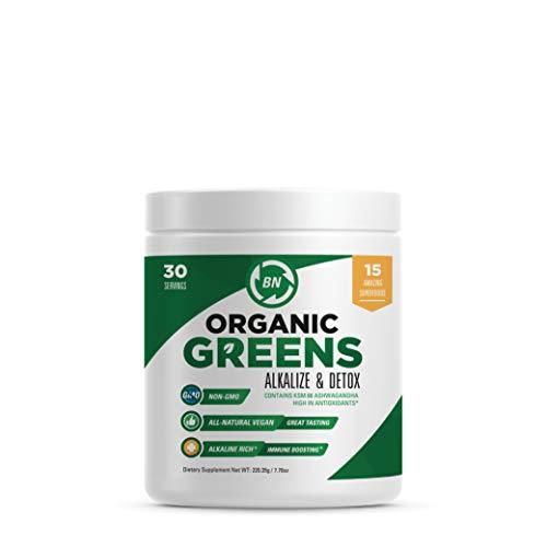 Super Greens Powder | Organic Greens Veggie Powder Full of Athletic and Health Benefits | Potent Superfoods Includes Organic Matcha Green Tea Powder, Prebiotics, KSM-66 Ashwagandha & Sea Buckthorn
