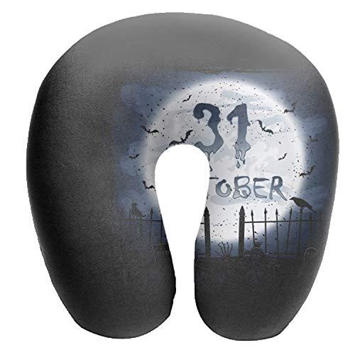 Dimanzo Halloween Calendar U Shaped Air Pillow Neck