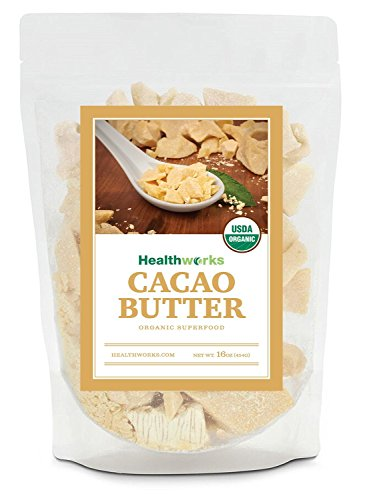 Healthworks Cacao Butter Organic, 1lb by Healthworks