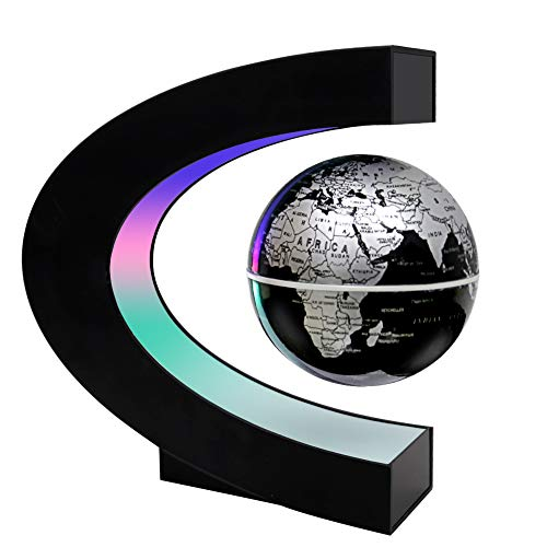 MOKOQI Magnetic Levitation Floating Globe Mysteriously Suspended in Air World Map for Desk Decoration Great Fathers Students Teacher Birthday Gift -