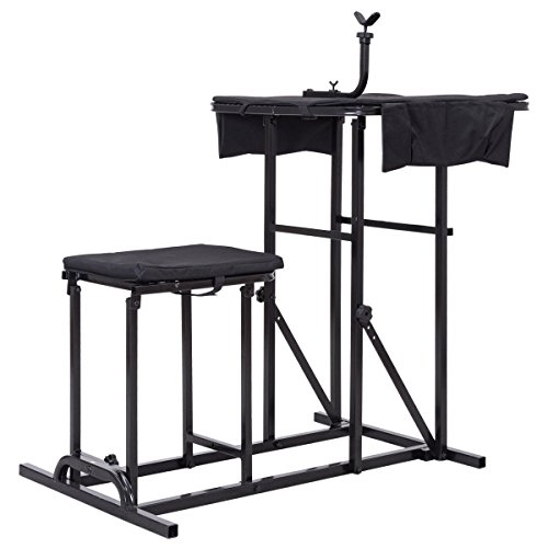 - Folding Shooting Bench with Adjustable Height Adjustable Table