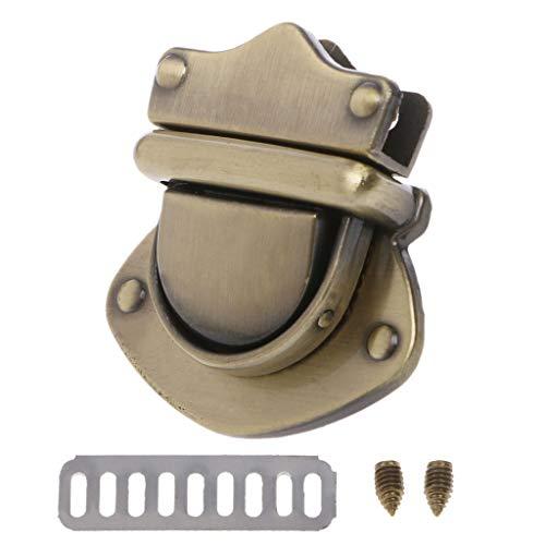Shoresua Metal Clasp Turn Lock Twist Locks for DIY Handbag Shoulder Bag Purse Hardware Accessories - Bronze