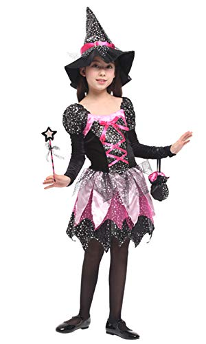 (stylesilove Adorable Little Girls Halloween Costume Party Cosplay Dress (M/4-6 Years, Dazzling)