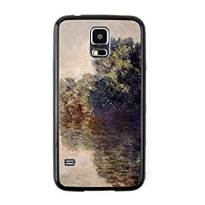 CaseCityLiu - The Seine at Giverny Claude Monet Oil Painting Design Black Bumper Plastic+TPU Case Cover for Samsung Galaxy S5