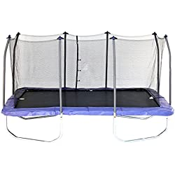 Skywalker Trampolines 15' Rectangle Trampoline with Enclosure – Blue