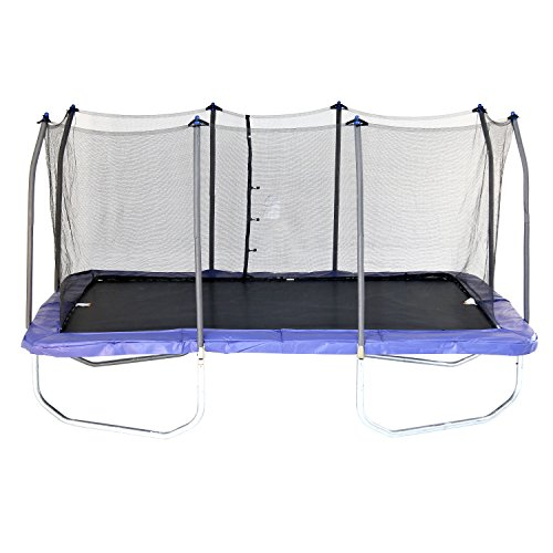 Skywalker Trampolines 15-Foot Rectangle Trampoline with Enclosure Net - Shape Provides Great...