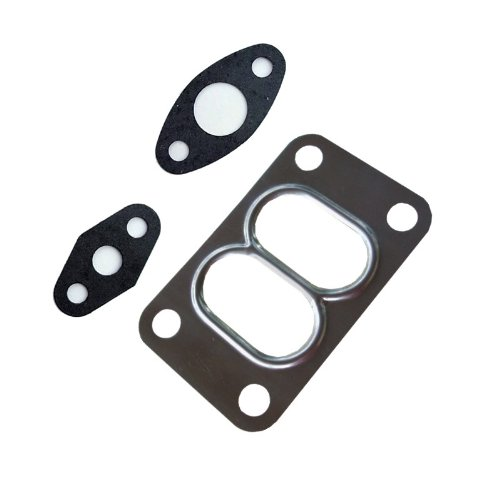 Turbo Gasket Set Fit Holset HX35W 353881 Diesel Turbo Oil Feed Drain Divided Flange Gasket turboparts