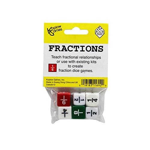 2 Fraction Dice Game Set (Fraction Dice Set)