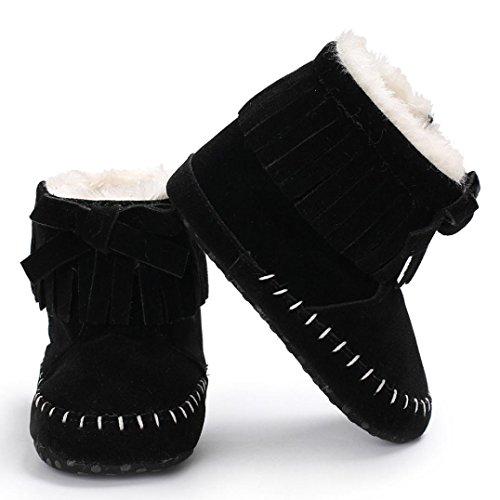 Baby Booties Aufwärmen Kleinkind Infant Hunpta Sole Schnee Stiefel Schwarz Neugeborene Schuhe Soft Mädchen Owxat0qH
