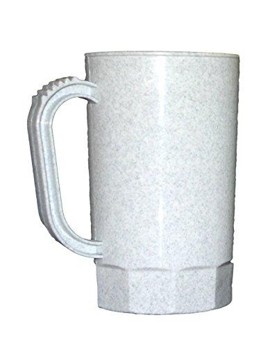 Talisman, Plastic Beer Mugs, 1 Pint, Pack 75, Color Granite