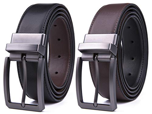 - Mens Belt, Reversible Leather Belts for Men, Rotated Buckles, Dress and Casual, Classic & Fashion Designs for Man