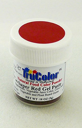Amazon.com : TruColor Natural Gel Paste Powder (Sm. Jar) Super Red ...