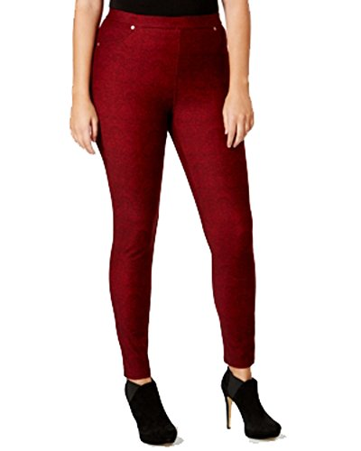Plus Michael Jeans Size Kors (Michael Kors Womens Plus Size Cinnabar Paisley Printed Leggings Pants Red 3X)
