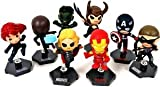 Marvel ( Marble ) The Avengers ( Avengers ) Movie Figure doll Set of 8 Exclusive Grab Zags Toys Includes: Iron Man ( Iron Man ), Black Widow, Hawkeye, Loki, Thor, Captain America ( Captain America ), Hulk u0026 Nick Fury Figure Toy