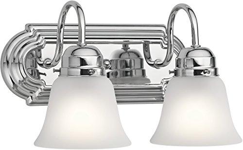 Kichler Lighting 5336CHS Two Light Bath, Chrome (Bathroom Kichler Chrome Bulbs)