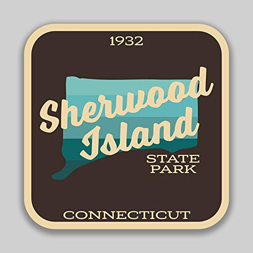 (JMM Industries Sherwood Island State Park Connecticut Vinyl Decal Sticker Car Window Bumper 2-Pack 4-Inches by 4-Inches Premium Quality UV Protective Laminate SPS784)