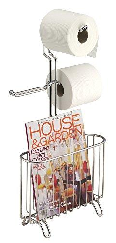 mDesign Standing Newspaper Magazine Bathroom