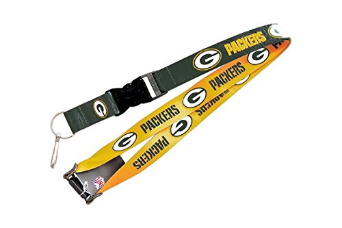 aminco NFL Green Bay Packers Reversible Lanyard