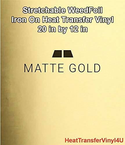 Foil Matte - Stretchable WeedFoil Iron On Heat Transfer Vinyl 20