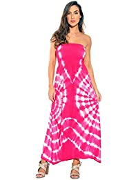 Strapless Tube Maxi Dress Summer Dresses