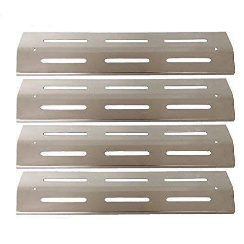 Bar.B.Q.S H91631 (4-pack) Barbecue Stainless Steel Heat Plate, Heat Shield, Heat Tent, Burner Cover, Vaporizor Bar, and Flavorizer Bar Replacement For Brinkmann and Kenmore Gas Grill Modesl