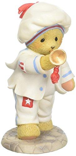 Cherished Teddies USA Hip Hip Hooray Bear with Trumpet 4th of July Figurine