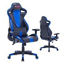 Top Gamer Ergonomic Gaming Chair PC Computer Chairs for Gaming (Blue/Black,8)