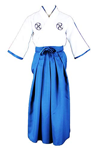 CHIUS Cosplay Costume Outfit for Soul Society Shinigami Academy Male Unifrom V1 White, Blue -