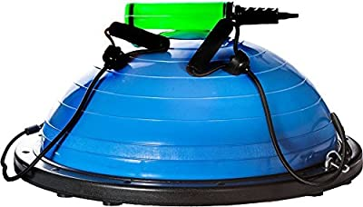 "sagler balance ball with Resistance Bands & Pump - premium balance trainer, 20"" diameter - By"