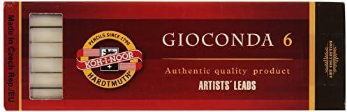Koh-I-Noor 6 Gioconda 5.6 mm White Drawing Chalk 4371