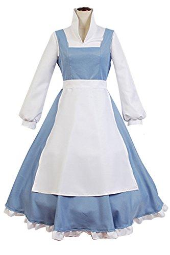 Space Girl Costume Pattern (NoveltyBoy Girls Princess Belle Costume Lady Gowns Blue Dress Costume Outfit Party Custom Masquerade Suit (X-Large, Female))