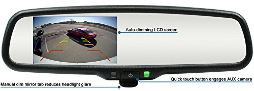 Rostra 250-8309-LPB Backup Camera Mirror w/4.3'' Display & License Camera