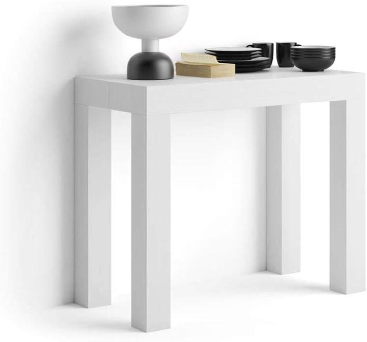 Mobilifiver Mesa Consola Extensible, Modelo First, Color Blanco ...