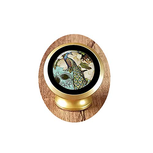asd Peacock Keychain, Victorian Style Peacock Jewelry Magnetic Car Phone Mount Holder