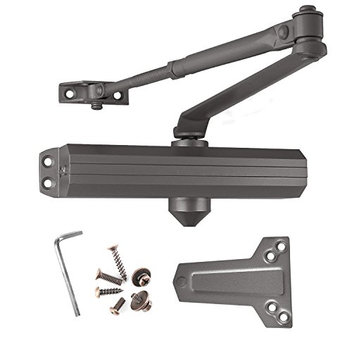 Dark Bronze Adjustable Spring - Medium/Heavy Duty Commercial Door Closer, Surface Mounted, BHMA Grade 1, Cast Aluminum, Dark Bronze, Lawrence Hardware LH5016 - for high-Traffic entrances/doorways.