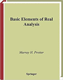 Book Basic Elements of Real Analysis (Undergraduate Texts in Mathematics)