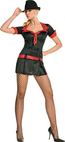 Lady Gangsta Dress Adult Costume - X-Small