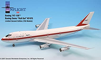 Amazon com: Rollout Livery Boeing 747-100 Airplane Miniature Model
