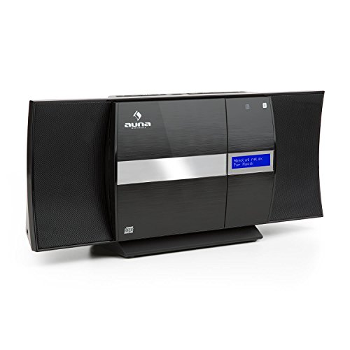 auna V-20 – Verticaal stereosysteem, microsysteem, cd-speler, mp3, DAB + tuner, marifoonontvanger, Bluetooth, NFC…