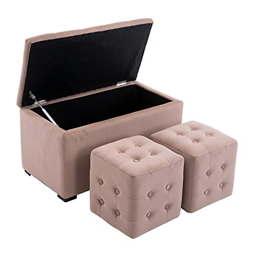 Microfiber Cube Footstool - 2