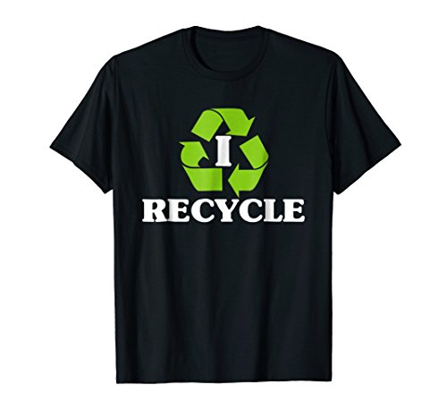 I Recycle Earth Day Recycling T-Shirt With Recycle Symbol