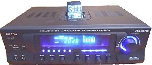 - GLi RCX1500 500-Watt Receiver with iPod Dock