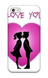 Heimie Case Cover Protector Specially Made For Iphone 5/5s I Love You Girl Boy Kissing Heart Pink White Black Hearts Romantic Vday Red February Lovers Valentin Holiday Valentines Day