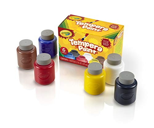 (Crayola Tempera Paint Set, 2-Ounce, 6 Count)