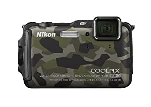 Nikon COOLPIX AW120 16.1 MP Wi-Fi and Waterproof Digital Camera with GPS and Full HD 1080p Video (Camouflage) (Discontinued by Manufacturer)