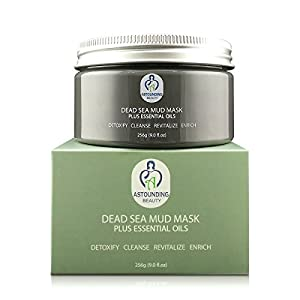 NOT JUST ANOTHER Dead Sea Mud Mask + Essential Oils-9 oz-100% Natural Facial Body Skin Spa Treatment|Detox Cleanse Exfoliate Face|Reduce Minimizer Acne Pores Wrinkles Scars|Blackhead Remover Extractor